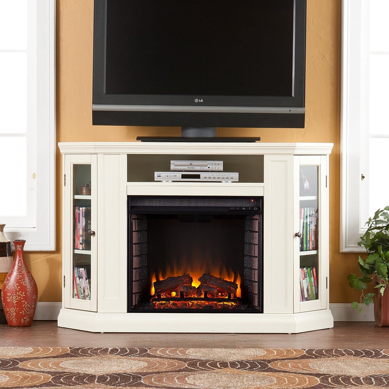 amazon com claremont convertible media electric fireplace ivory