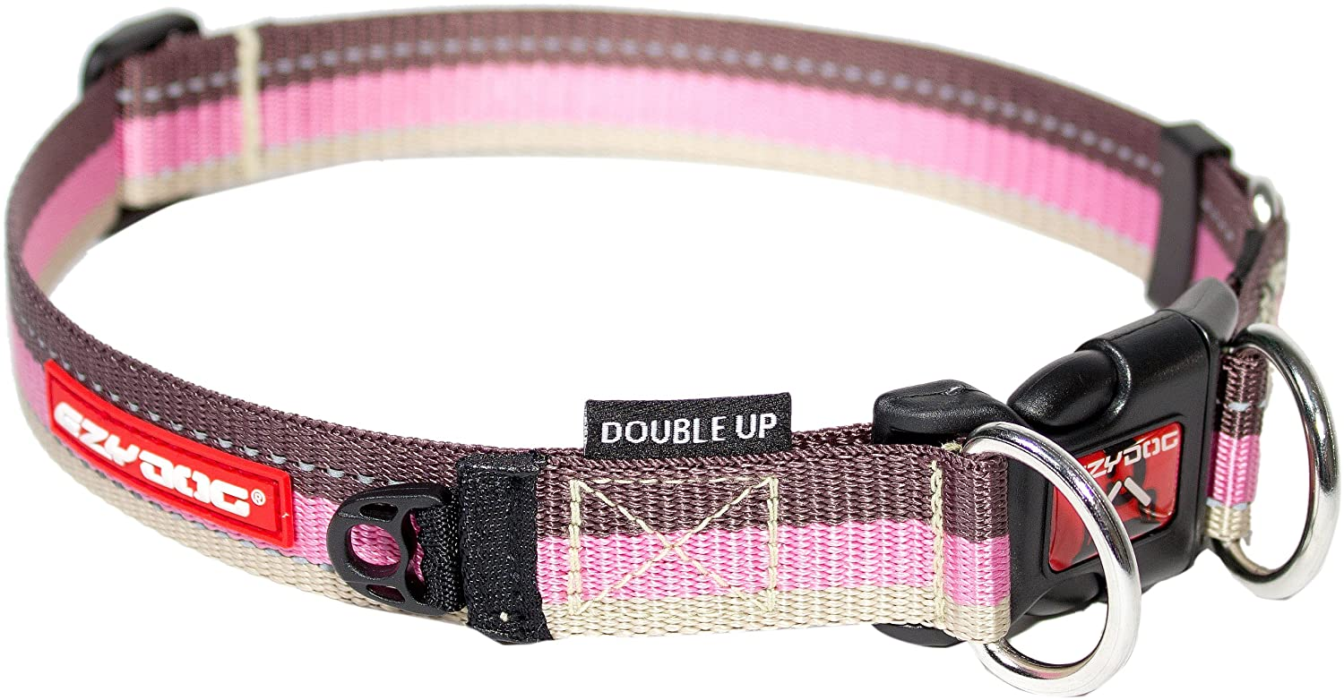 Ezydog Collar Double Up M Red 29-40cm