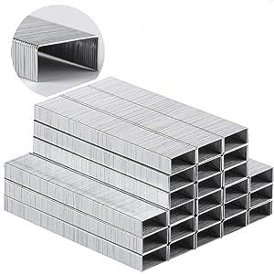 Mr. Pen- Heavy Duty Staples, 5000 Pc Staples, 25 Sheet Staple, 1/4 inch Length(23/6), Staples for Stapler, Staples Office Supply, Office Staple, Paper Staple, One Touch Staple, 100/Strip, Large Staple