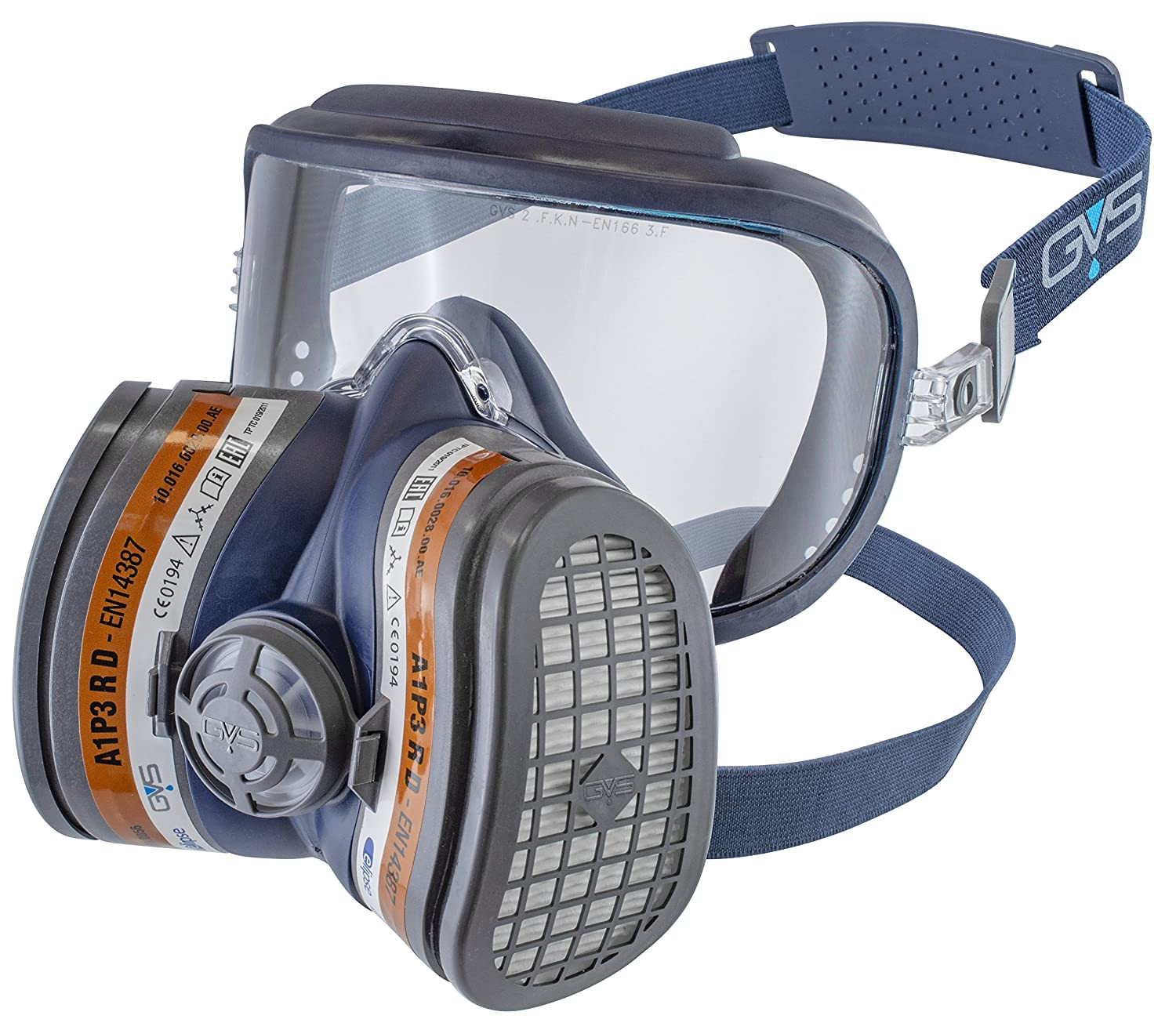 GVS Filter Technology SPR401 Elipse Integra Safety Goggle + A1P3 Dust and Organic Vapour Respirator, Filters Ready Fitted, Medium/Large