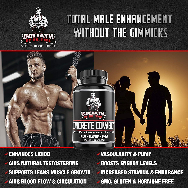 Goliath by Dr. Emil Concrete Cowboy – Male Enhancement Supplement – Libido Testosterone Booster, Muscle Growth Endurance 60 Veggie Capsules