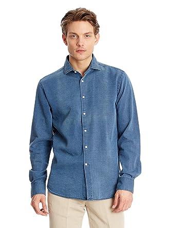 Pedro del Hierro Camisa Hombre Azul S: Amazon.es: Ropa y accesorios
