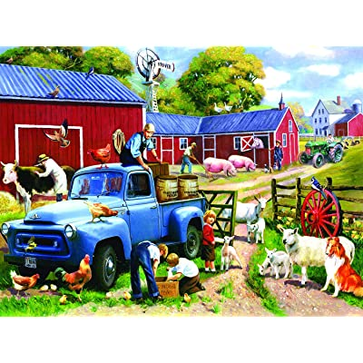 Spring Farm Days 1000 pc Jigsaw Puzzle by SunsOut: Toys & Games
