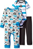 Gerber Baby Boys' 3 Piece Coverall, Bodysuit, and Pant Set