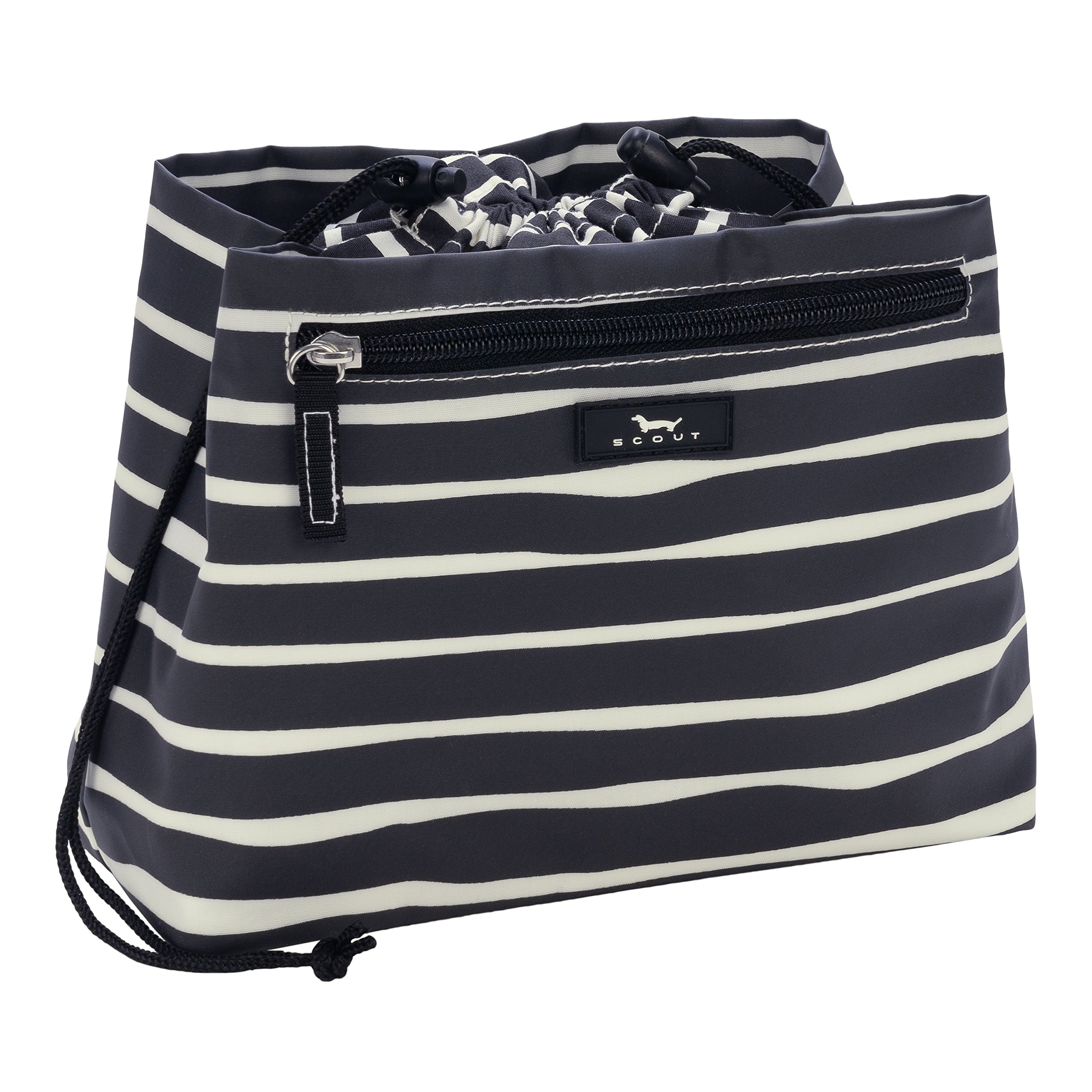 SCOUT Glam Squad Makeup & Cosmetic Bag, Cinch-Top Closure, 4 Open Pockets, Water Resistant, Ren Noir