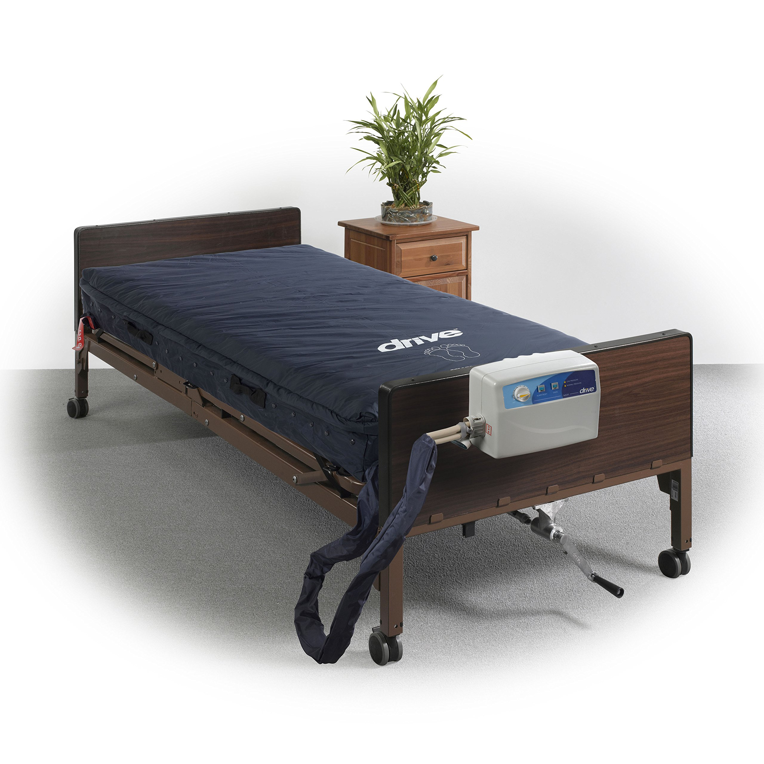 Drive Medical Med-Aire Assure Foam Base Mattress System, Blue