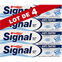 Signal Dentifrice Anti-Tartre, Limite la Formation de la Plaque Dentaire et Freine la Calcification (75ml) - Lot de 4