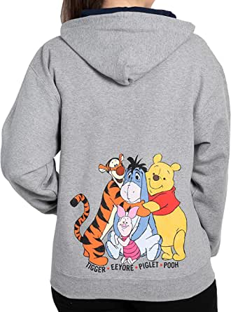 Disney Hoodie Men's Mickey Mouse Donald Goofy Pluto Print Zip Up