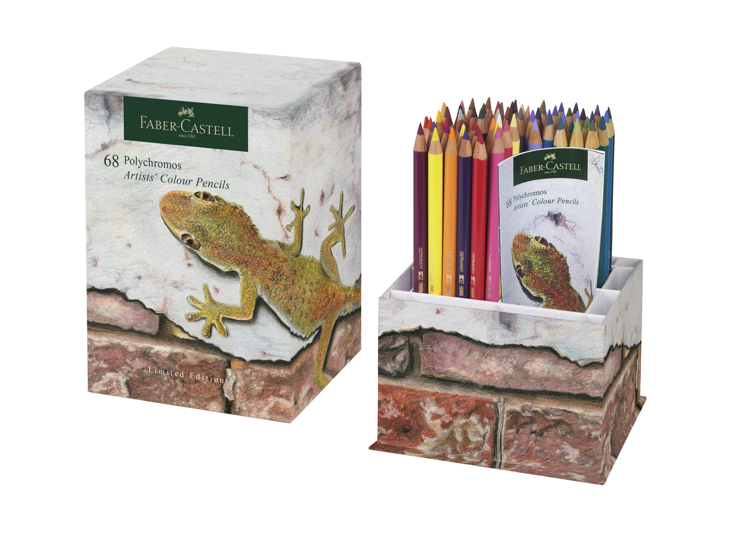 Faber-Castell Limited Edition Polychromos Colour Pencil Cup of 68 Vibrant, Break Resistant Tipped Coloured Pencils in a Storage Container