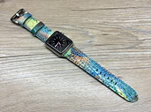 Apple Watch Band | Apple Watch Strap | Yellow Hawk leg skin leather watch Strap For Apple Watch 38mm & Apple Watch 42mm - Series 1 and 2