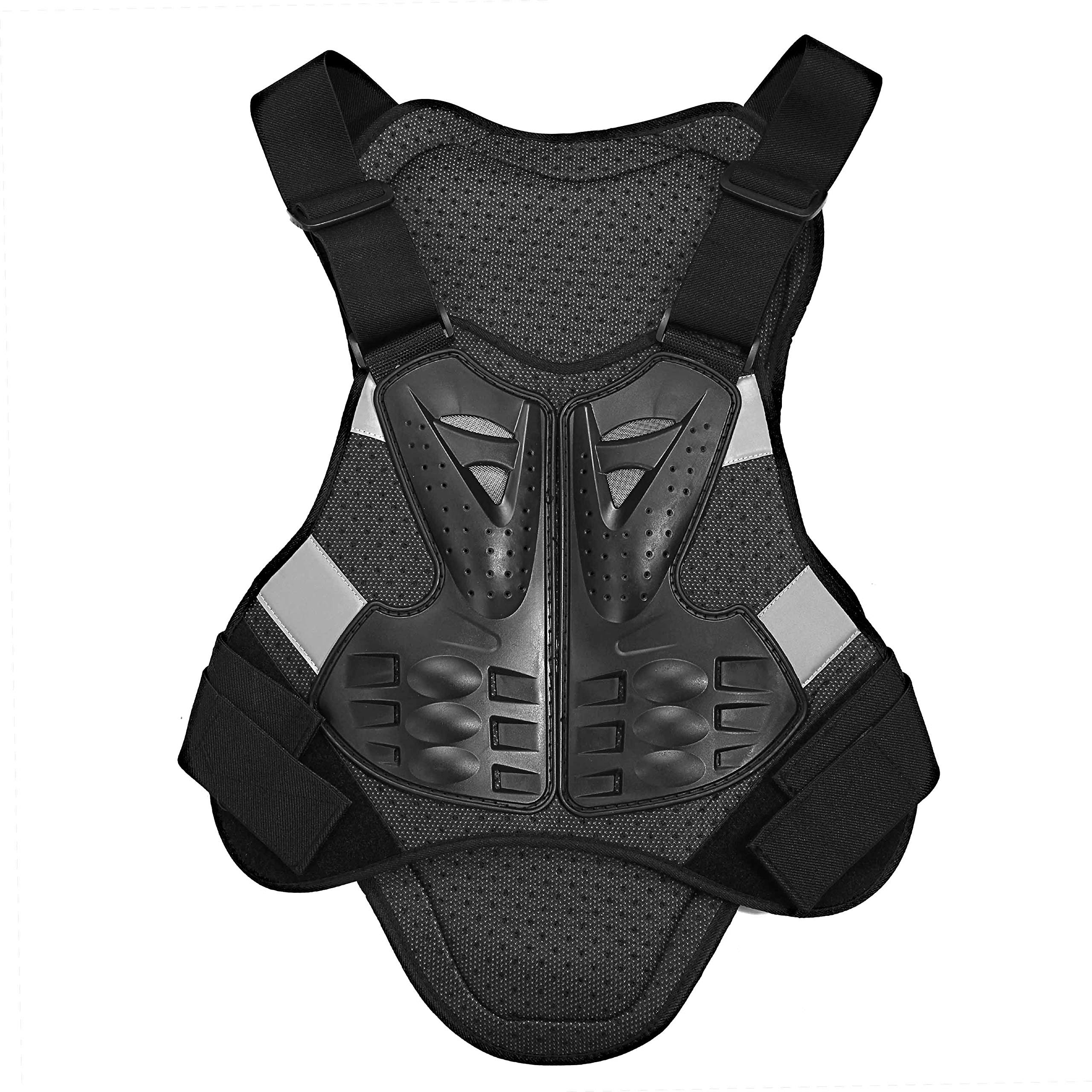 OHMOTOR Motorcycle Body Armor Motorbike Body Guard Vest Chest Back Protector (X-Large)