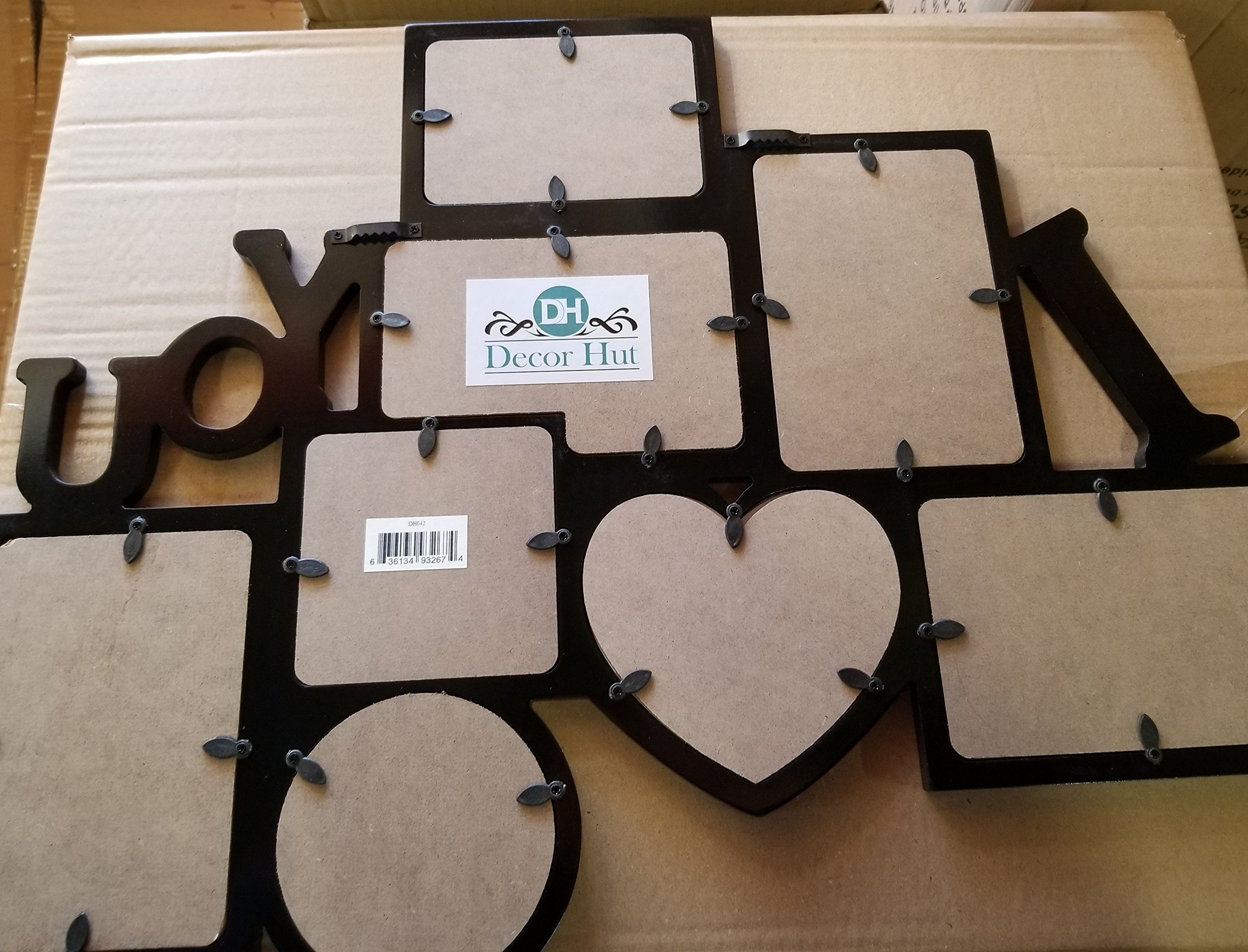 Decor Hut I Love You Picture frame Puzzle Collage Frame, Holds 8 Photos, Easy to Hang, Black Nice Finish! Memory Keepsake! by Decor Hut (Image #3)