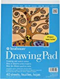 """Strathmore 100 Series Youth Drawing Pad, 9""""x12"""" Tape Bound, 40 Sheets"""