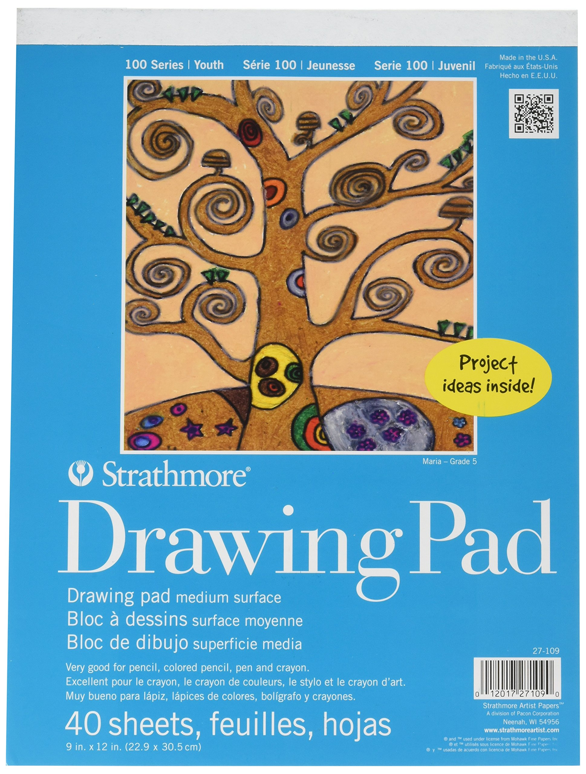 Strathmore 27-109 100 Series Youth Drawing Pad, 9 by 12