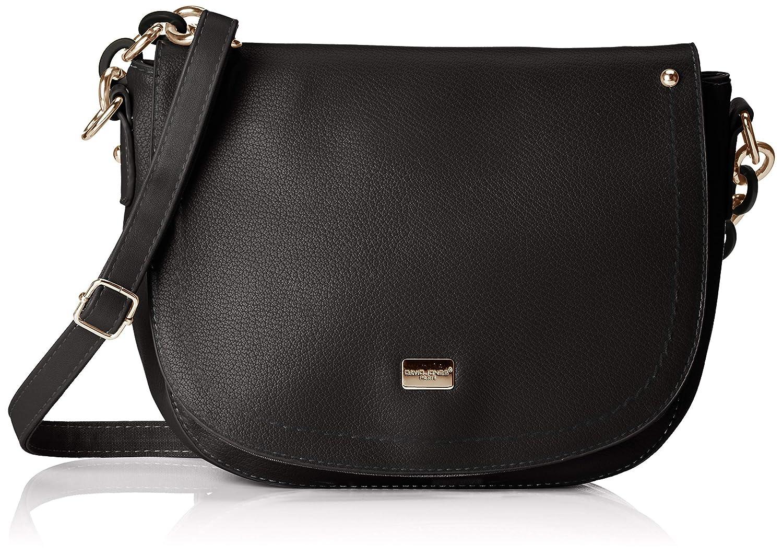 2fda42afe310 David Jones 5937-1, Women's Cross-Body Bag, Black, 8x18x19 cm (W x H L):  Amazon.co.uk: Shoes & Bags