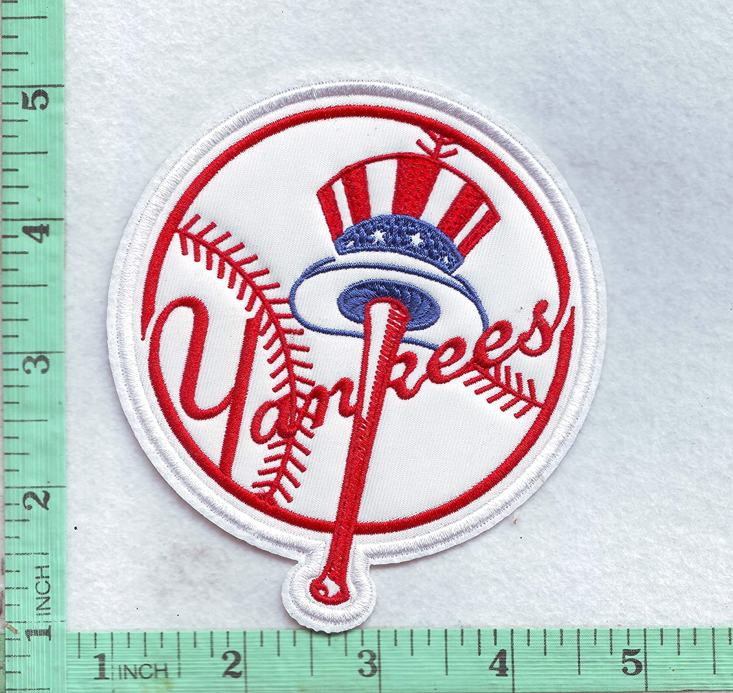 New York Team Patch 3.5 inch for Jersey T-Shirt Jacket Hoodies White