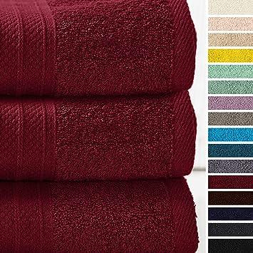 2er SET FROTTEE Duschtuch 70 x 140 cm Duschtücher Dusche 100/% Baumwolle 500g //m²