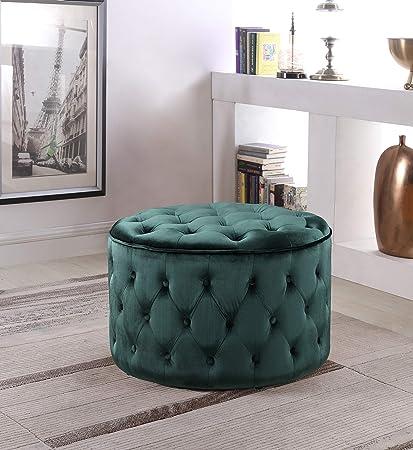 Tremendous Amazon Com Pop Luxurious Tufted Soft Velvet Fabric Round Bralicious Painted Fabric Chair Ideas Braliciousco