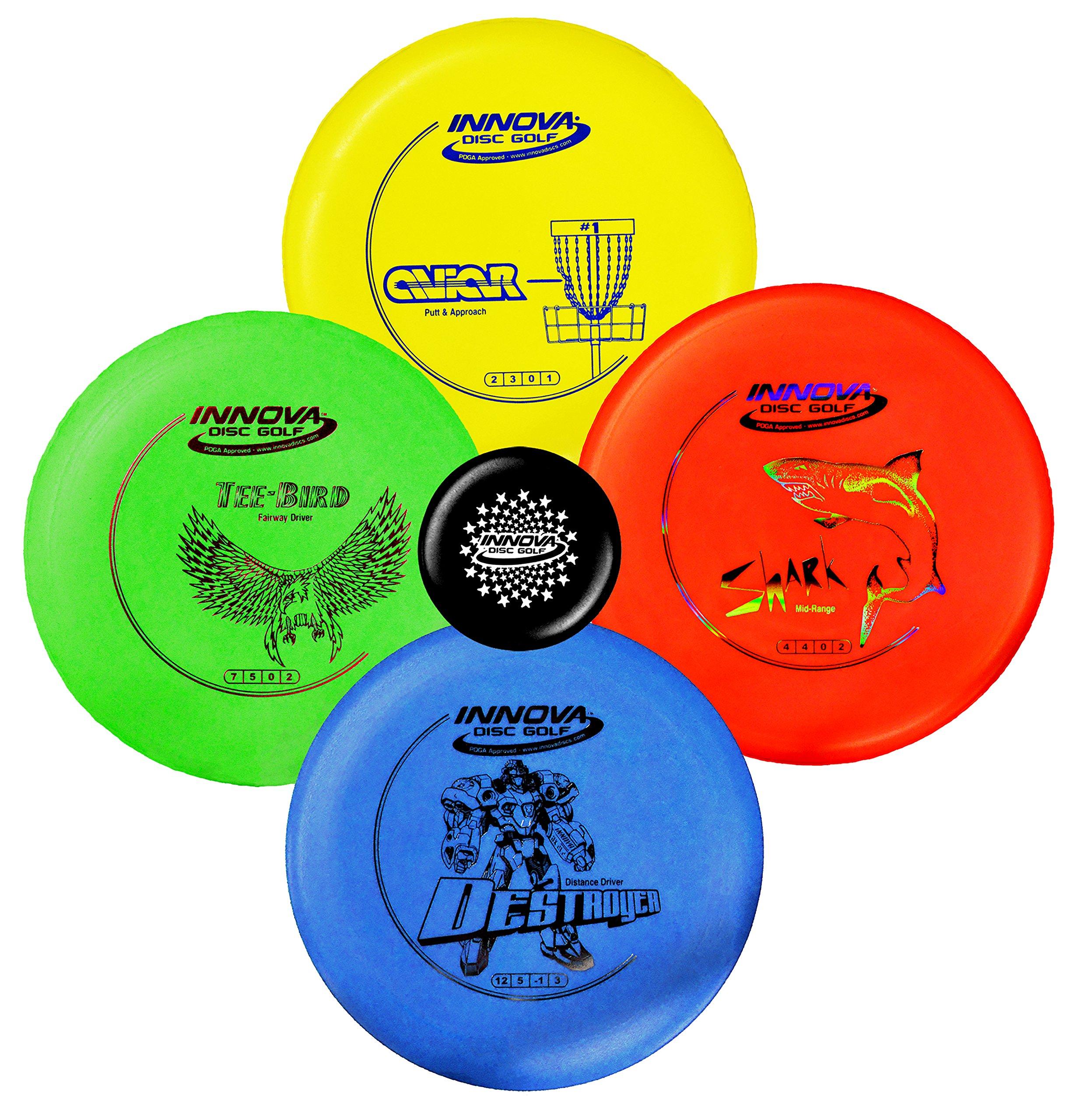 Innova Disc Golf Starter Set – Colors May Vary 160-180g – DX Putter, Mid-Range, Driver