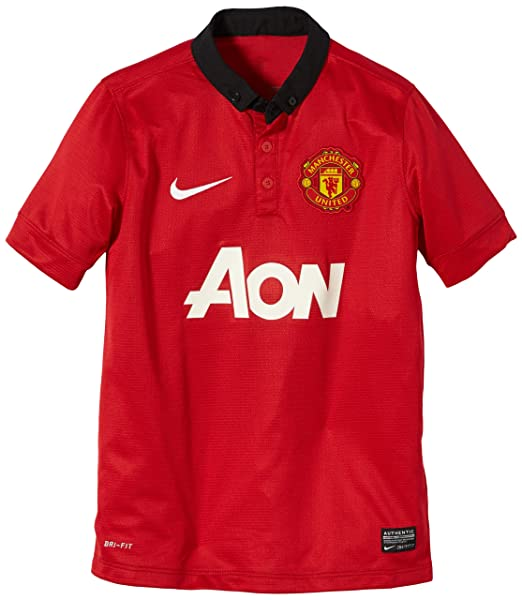 15a118af86b Nike Manchester United BOYS SHORT SLEEVE HOME REPLICA JERSEY (DIABLO RED)  (S)