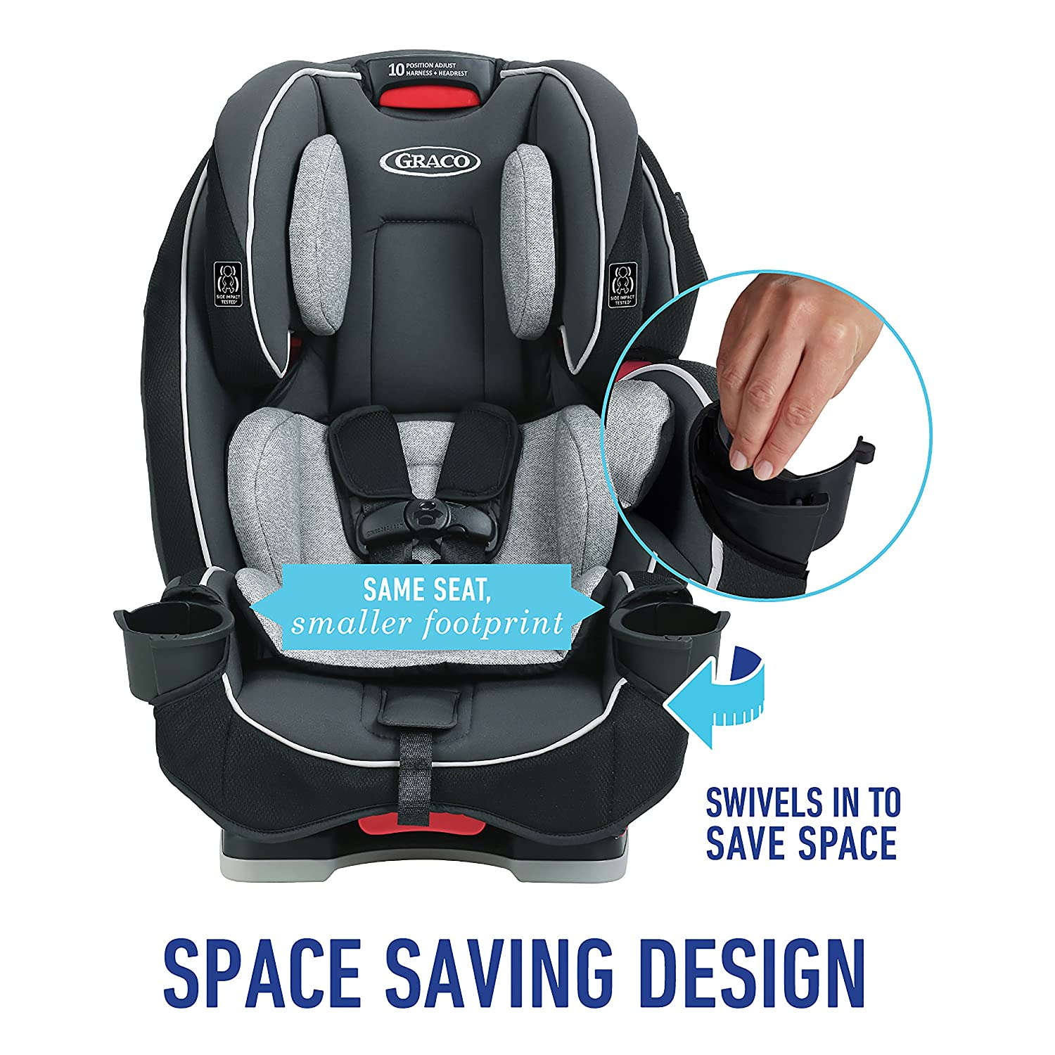 Graco SlimFit All In One Convertible Car Seat Darcie Size