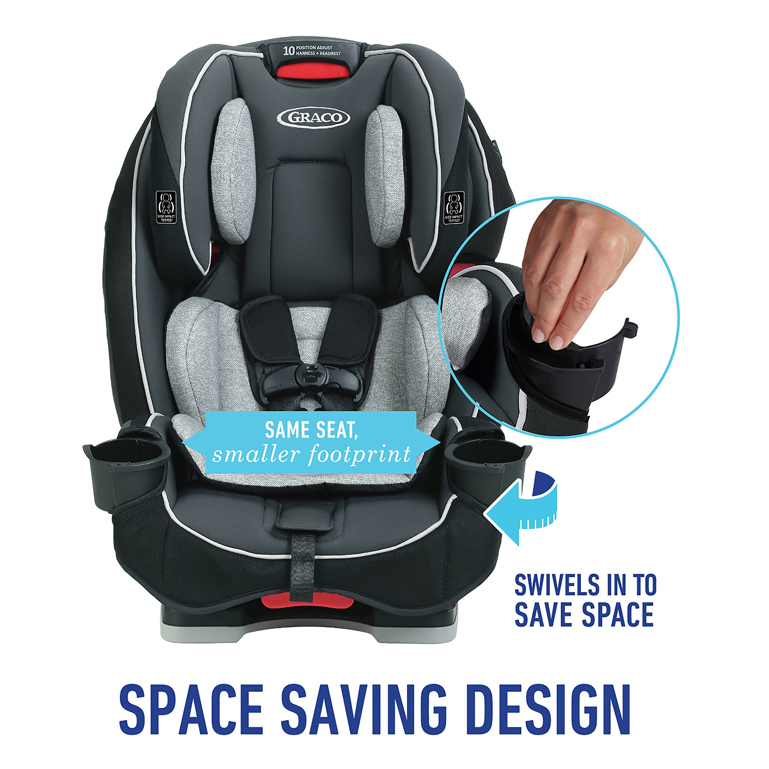 Graco SlimFit 3-in-1 Convertible Car Seat, Darcie by Graco (Image #2)