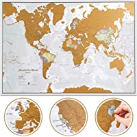 Scratch The World Travel Map - Scratch Off World Map Poster - X-Large 33 x 23 - Maps International - 50 Years of Map…