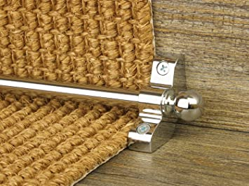 Stair Rods ~ Chrome Silver   Easy Rods To Fit   Good Quality Hollow Stair  Carpet