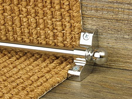Stair Rods ~ Satin Silver/ Chrome   Easy Rods To Fit   Good Quality Hollow