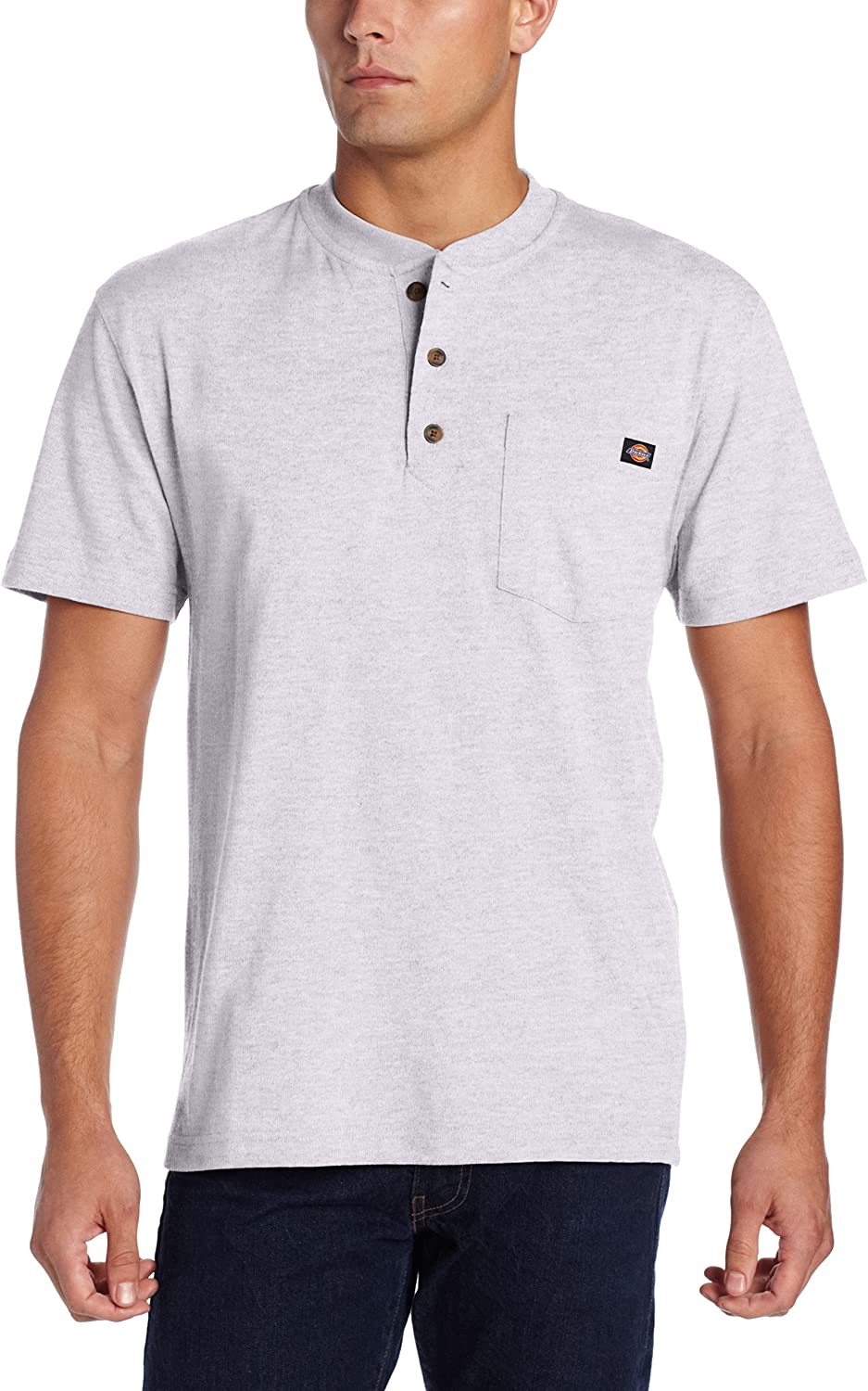 Dickies Men's Heavyweight Henley at  Men's Clothing store: Henley Shirts