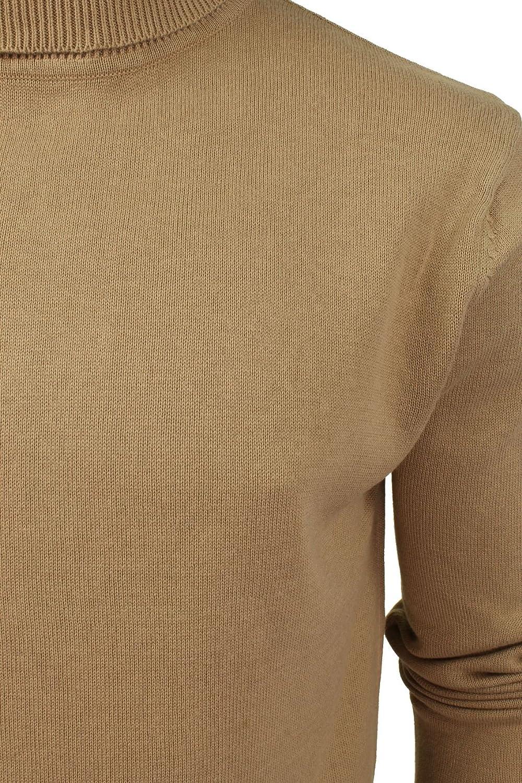 Mens Brave Soul Hume Designer Funnel High Roll Neck Cotton Knitted Jumper