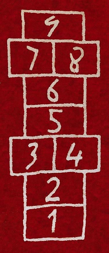 Aratextil Pata Coja Alfombra Infantil, Algodón, Rojo, 90x200 cm ...