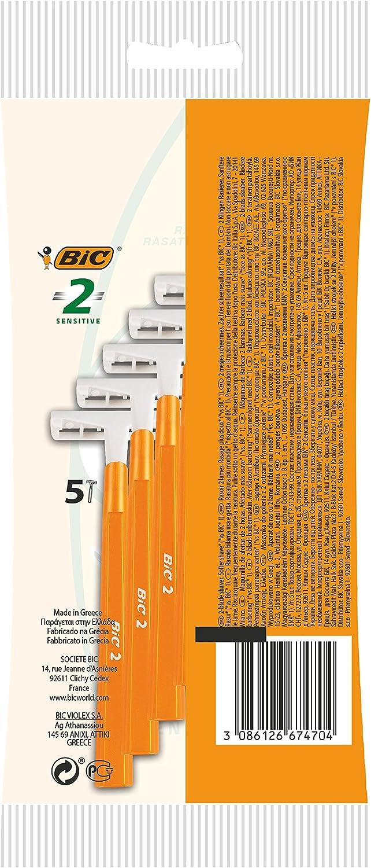 Bic 2 - Cuchillas de afeitar de doble hoja (25 unidades): Amazon ...