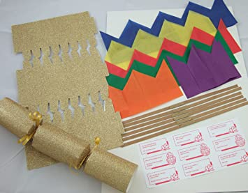 6 luxury 12 gold glitter make your own christmas crackers amazon 6 luxury 12quot gold glitter make your own christmas crackers solutioingenieria Choice Image