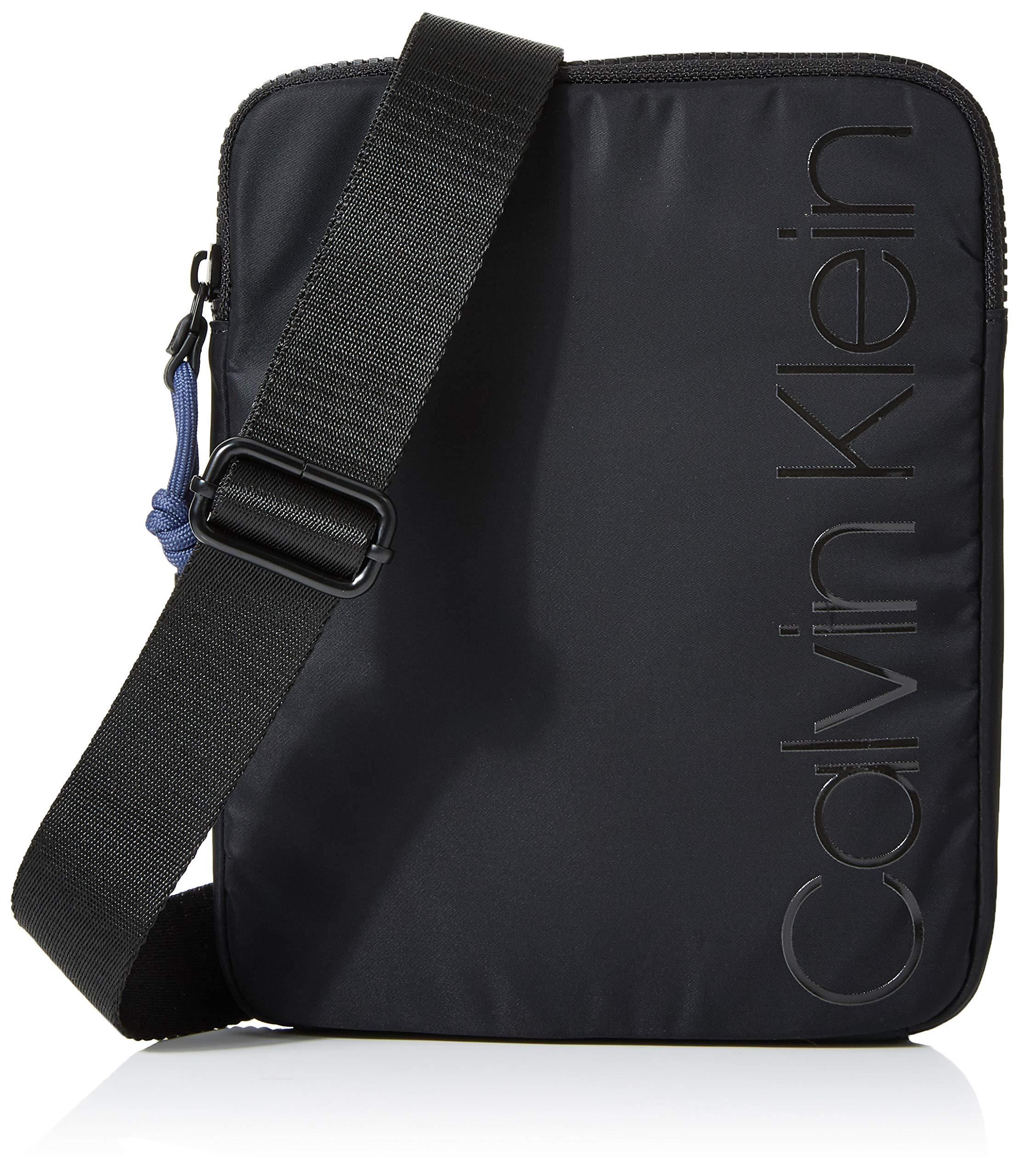 Calvin Klein Trail Flat Crossover, Men's Bag Organiser, Black, 1x1x1 cm (W x H L)