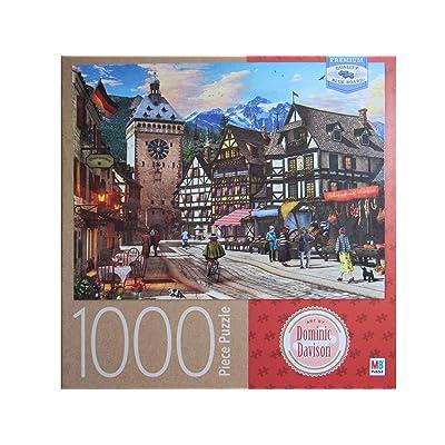 German Market Town, by Dominic Davison 1000 Piece Puzzle: Toys & Games