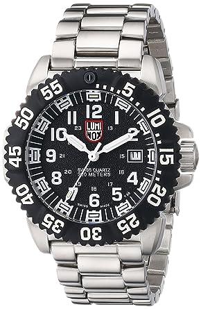 Luminox 3152 - Reloj de caballero de cuarzo, correa de caucho color plata: Luminox: Amazon.es: Relojes