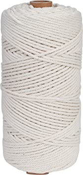 Cuerda de macramé 3 mm x 200 m Cuerda Cordel de Algodón para ...