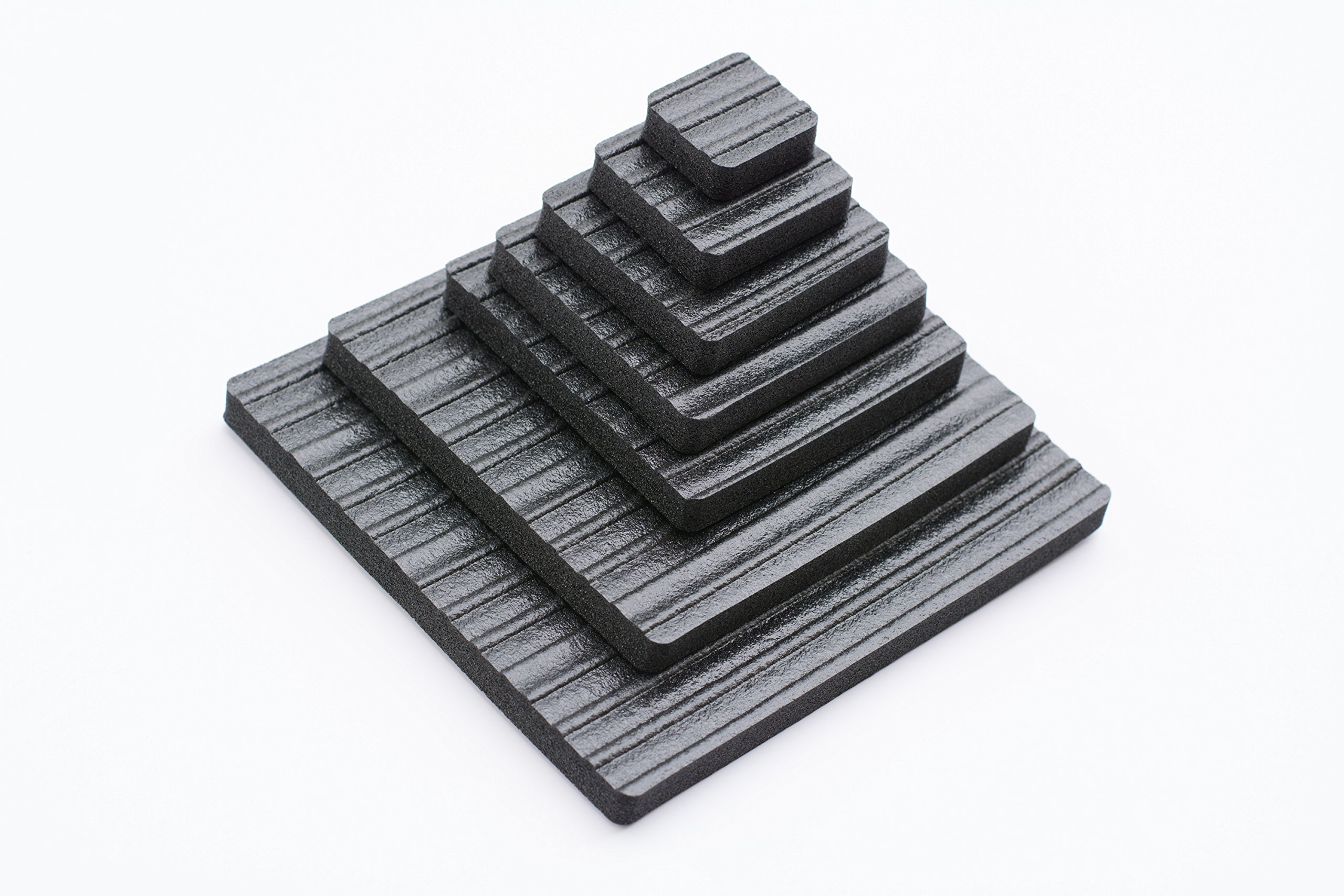 Lil Grippers Square Furniture Pads - Keep Furniture Where it Belongs! (4 Inch) 4 Pack - QUICK SHIP by Lil Grippers (Image #1)