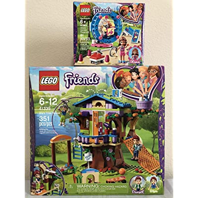 LEGO Friends Mia's Tree House Bundle Friends Olivia's Hamster Playground: Toys & Games