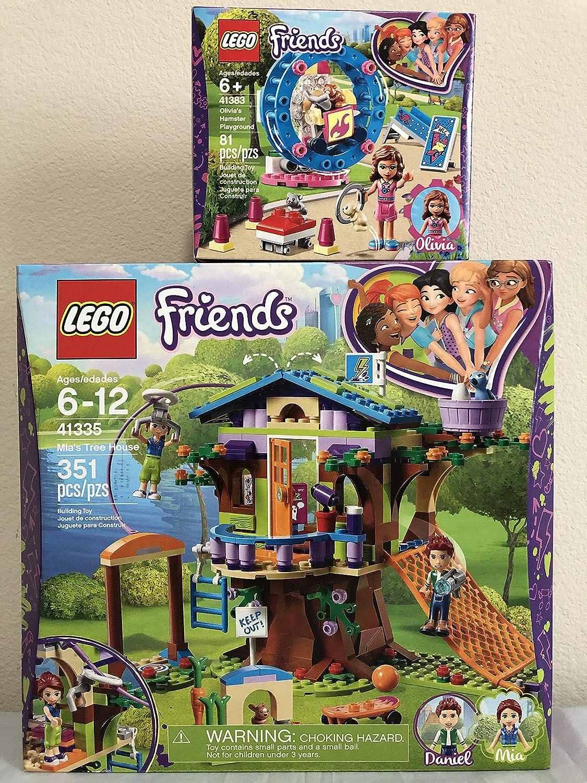 LEGO Friends Mia's Tree House Bundle Friends Olivia's Hamster Playground