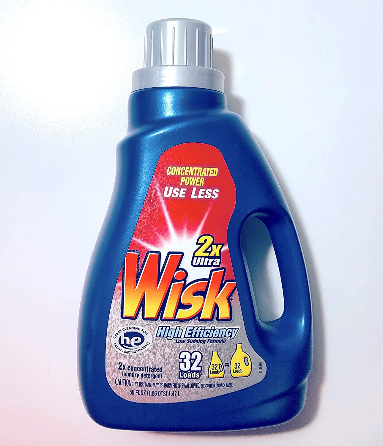 Wisk 2X Ultra Concentrated High Efficiency Low Sudsing Formula 50 oz