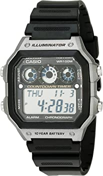 Casio Men's Illuminator Digital Display Quartz Black Watch