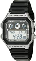 Casio Men's AE-1300WH-8AVCF Illuminator Digital Display Quartz Black Watch