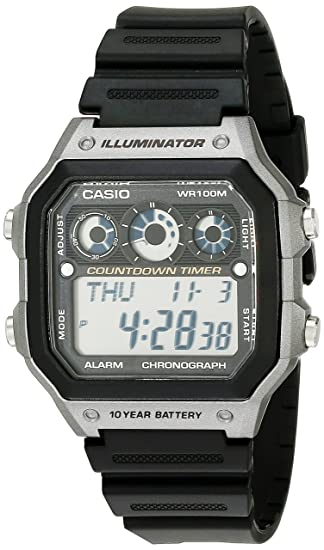 be07bf051 Amazon.com: Casio Men's AE-1300WH-8AVCF Illuminator Digital Display Quartz  Black Watch: Casio: Watches