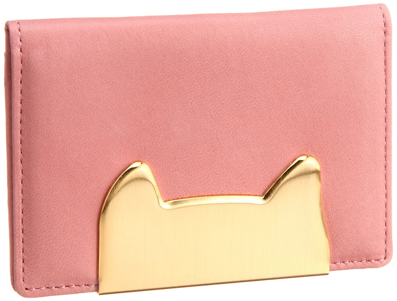 [ツモリチサト] TSUMORI CHISATO 定期入れ ネコフレーム B0073PMM1K ピンク ピンク