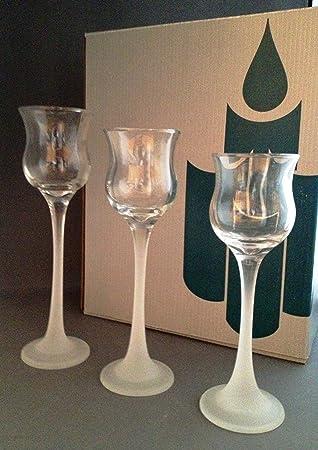 partylite glass votive holders 3piece p9248