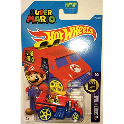 Hot Wheels, 2016 HW Screen Time, Super Mario Cool-One Die-Cast Vehicle #224/250: Toys & Games