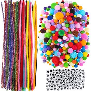 """Pipe Cleaners 30cm 12/"""" long 10 Colour assortment 50 100 200 300 500 800 1000"""