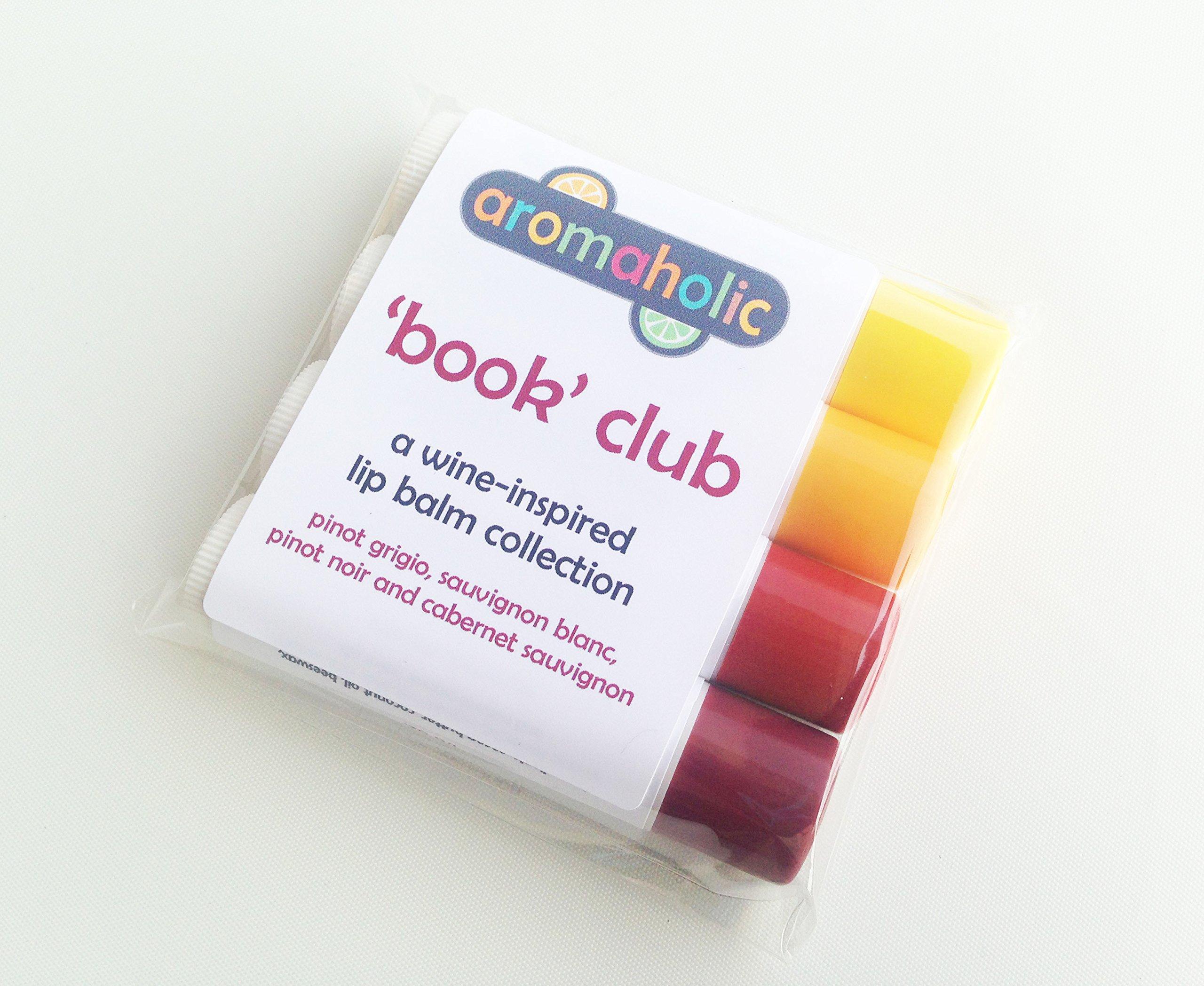 'Book' Club Wine Flavored Lip Balm set